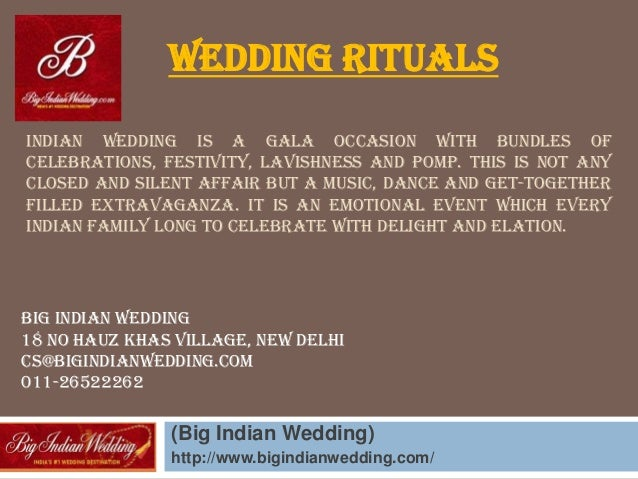 INDIAN WEDDING IS A GALA OCCASION WITH BUNDLES OF CELEBRATIONS, FESTIVITY, LAVISHNESS AND POMP. THIS IS NOT ANY CLOSED AND...