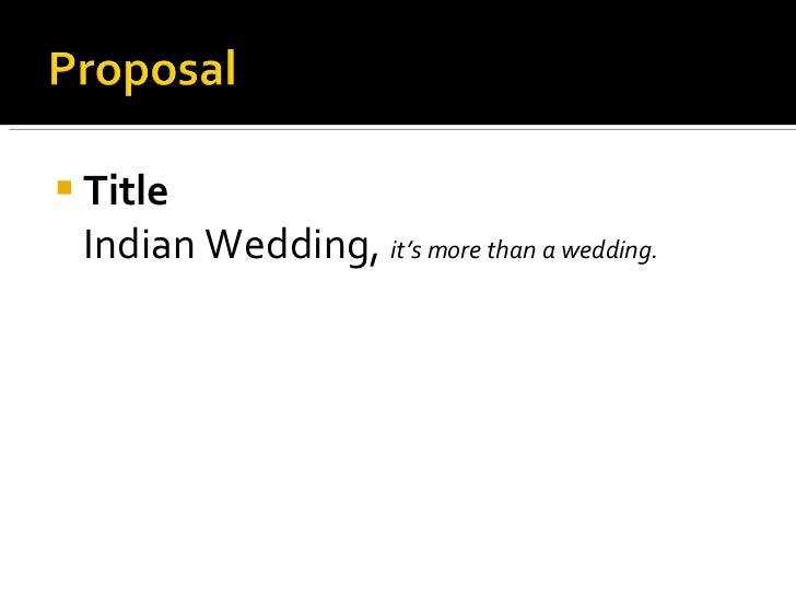 indian wedding presentation slides