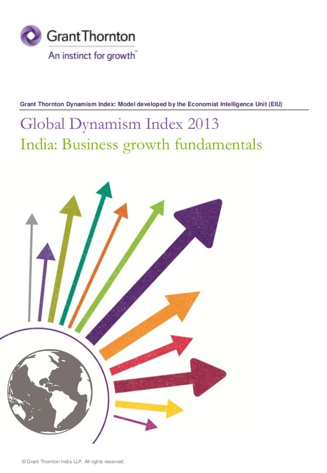 Grant Thornton Dynamism Index: Model developed by the Economist Intelligence Unit (EIU)  Global Dynamism Index 2013  India...