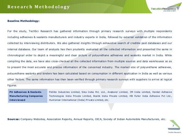 India polyurethane adhesives & sealants market forecast and