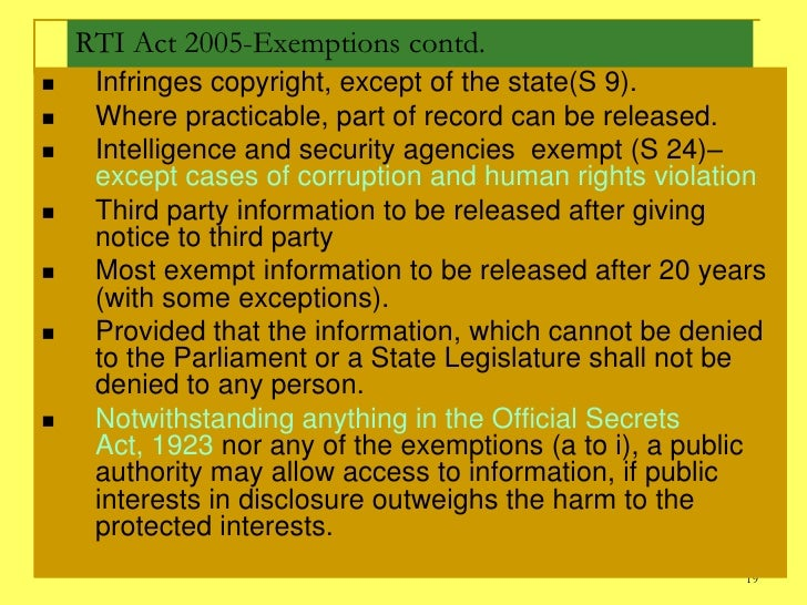 India right to information act