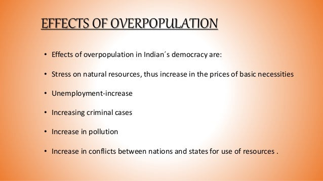 The Effects of Overpopulation on Environment
