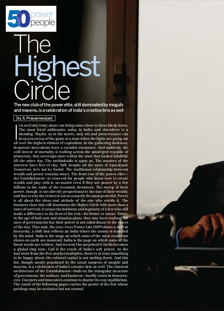 50        power          peopleTheHighestCircleThe new club of the power elite, still dominated by mogulsand mavens, is a ...