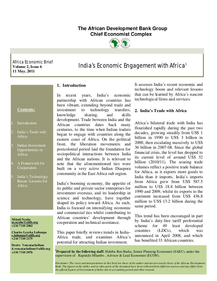 The African Development Bank Group                                                    Chief Economist Complex Africa Econo...