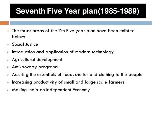 7th 5 year plan