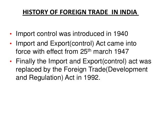 foreign trade of india trade policies and impact Foreign direct investment in south asia: policy, trends, impact and determinants  open trade policies to attract increased fdi 4.