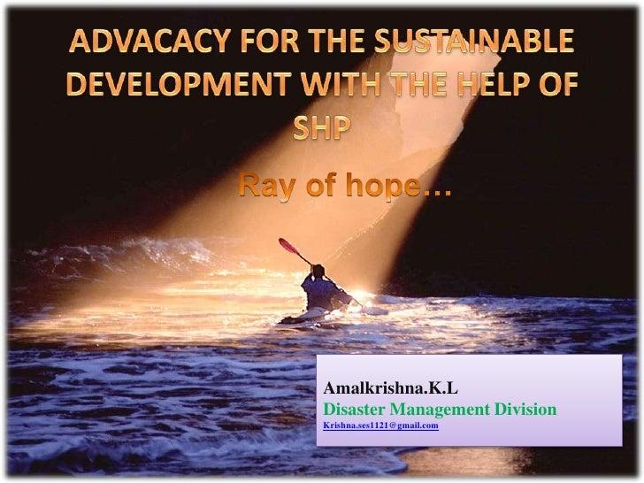 Amalkrishna.K.LDisaster Management DivisionKrishna.ses1121@gmail.com