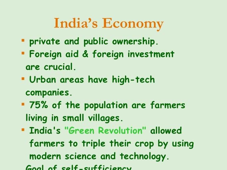 <ul><li>private and public ownership. </li></ul><ul><li>Foreign aid & foreign investment  are crucial. </li></ul><ul><li>U...