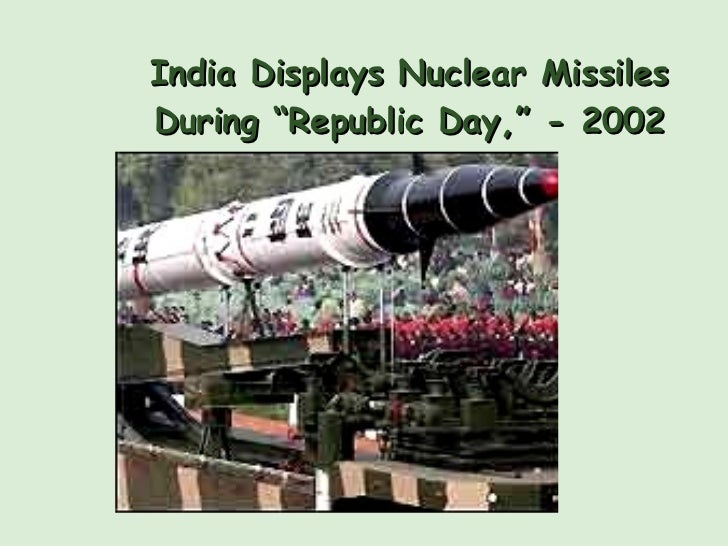 """India Displays Nuclear Missiles During """"Republic Day,"""" - 2002"""