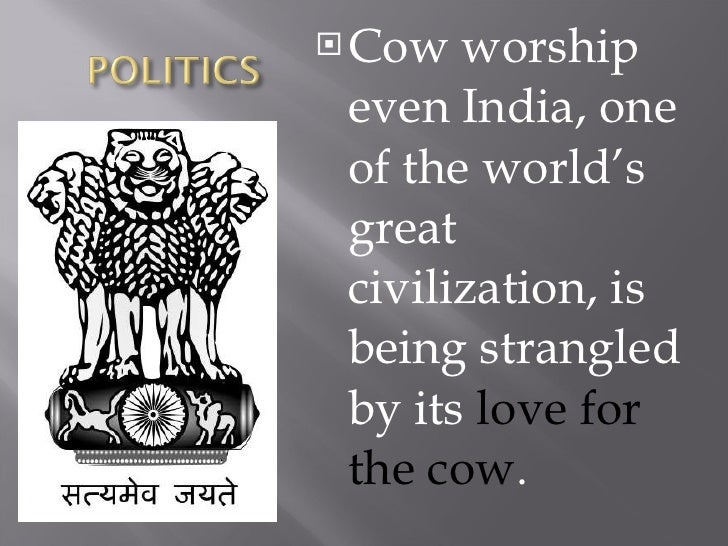 indias sacred cow marvin harris summary