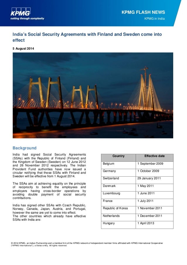 © 2014 KPMG, an Indian Partnership and a member firm of the KPMG network of independent member firms affiliated with KPMG ...