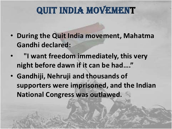 Essays on service quit india movement