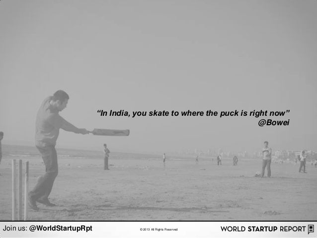 """In India, you skate to where the puck is right now""                                                                      ..."