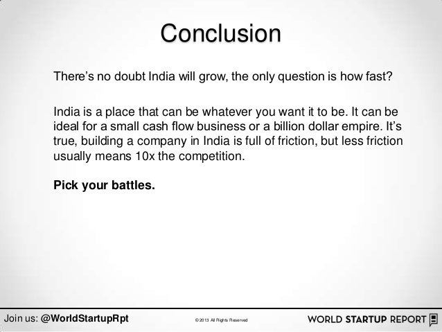conclusion there s no doubt india