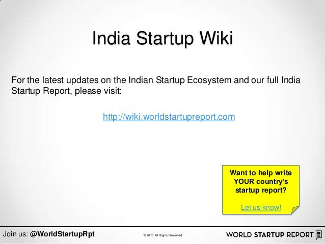 India Startup Wiki  For the latest updates on the Indian Startup Ecosystem and our full India  Startup Report, please visi...