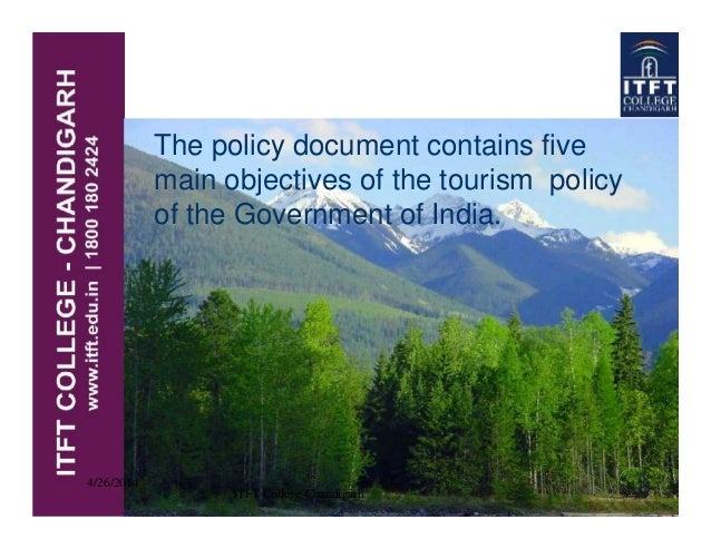 national tourism policy of india Submitted as an assignment for tourism policy and planning framework paper (ma tourism administration, 1st semester, amity institute of travel and tourism.