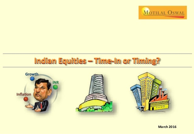 STRATEGY | March 2016 March 2016 Indian Equities – Time-In or Timing?