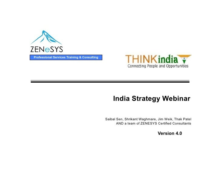 Professional Services Training & Consulting                                                       India Strategy Webinar  ...