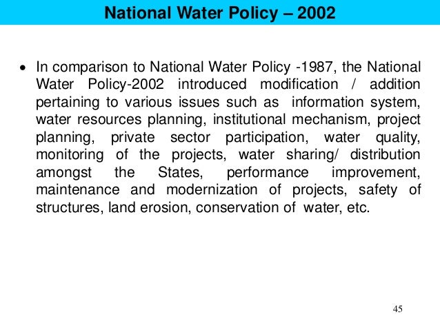 NATIONAL WATER POLICY 2002 EPUB DOWNLOAD