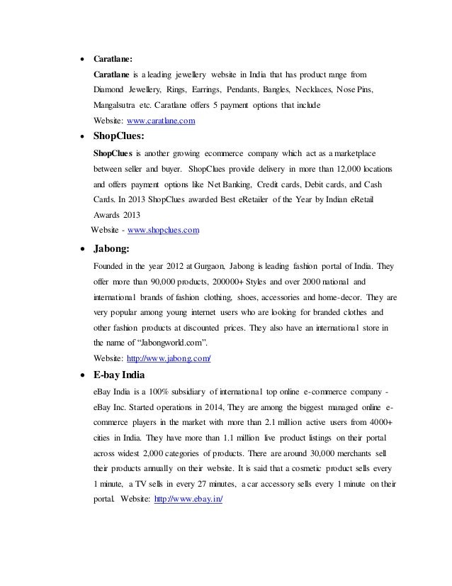 Indiatimes shopping market analysis