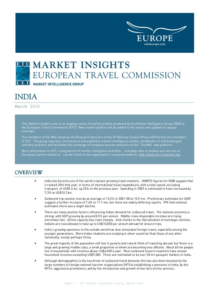 INDIAMarch 2010  This Market Insight is one of an ongoing series of market profiles produced by the Market Intelligence Gr...