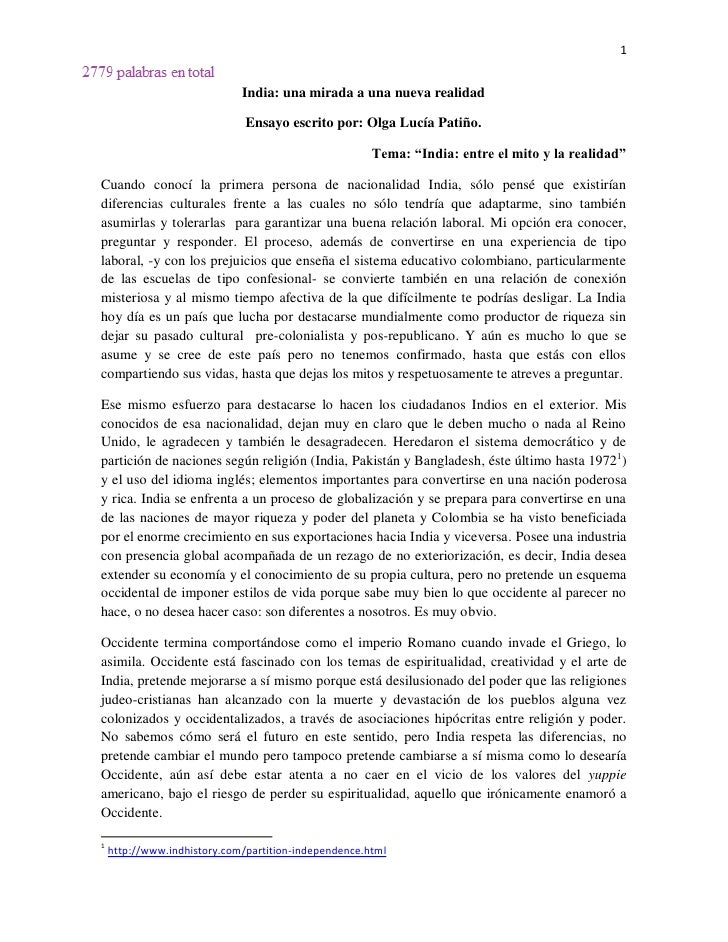 India essay contest