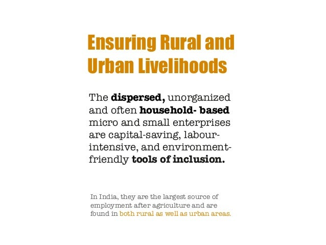 Essay rural livelihood india
