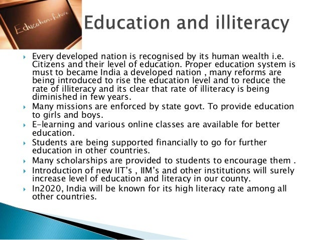 illiteracy a major drive for underdevelopment The primary purpose of the paper is to explain the differences in infant mortality  rates for a sample of 46 underdeveloped countries  for their helpful  suggestions dr palloni for providing unpublished data on infant mortality.