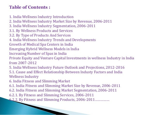 wellness and fitness services industry in india Medical tourism and wellness sector is  india's medical tourism and wellness sector is  brand position of your products & services to the target industry.