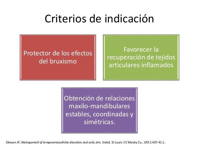 indicaciones y mecanismos de accion de los planos oclusales