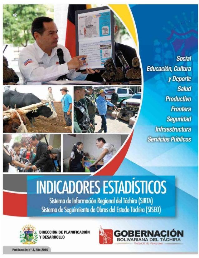 Indicadores estadísticos del Táchira 2015