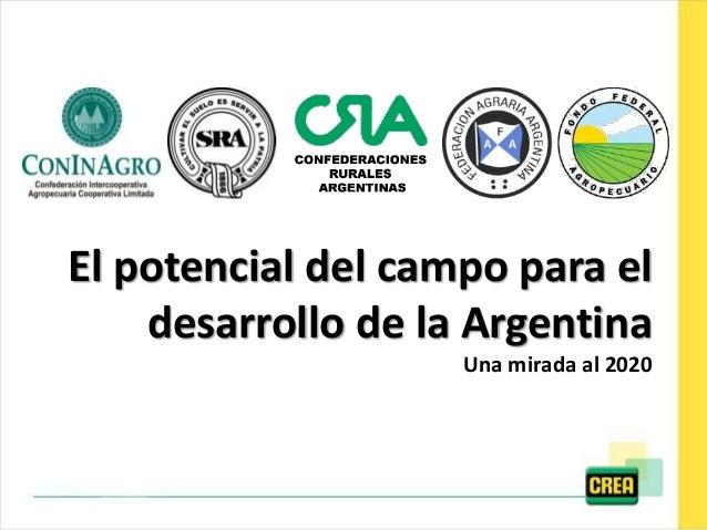 El potencial del campo para el desarrollo de la Argentina Una mirada al 2020