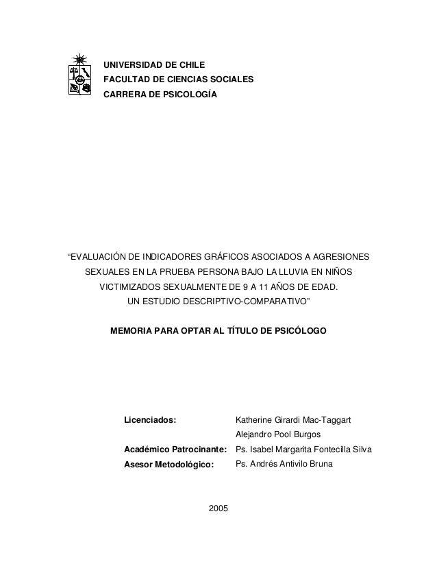 """UNIVERSIDAD DE CHILE FACULTAD DE CIENCIAS SOCIALES CARRERA DE PSICOLOGÍA """"EVALUACIÓN DE INDICADORES GRÁFICOS ASOCIADOS A A..."""