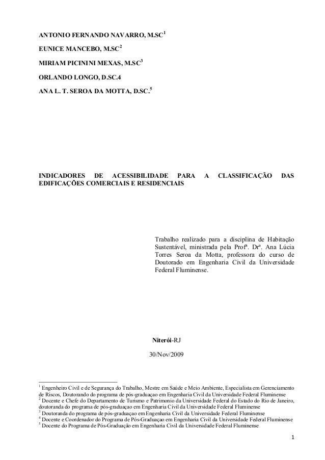 ANTONIO FERNANDO NAVARRO, M.SC1 EUNICE MANCEBO, M.SC2 MIRIAM PICININI MEXAS, M.SC3 ORLANDO LONGO, D.SC.4 ANA L. T. SEROA D...
