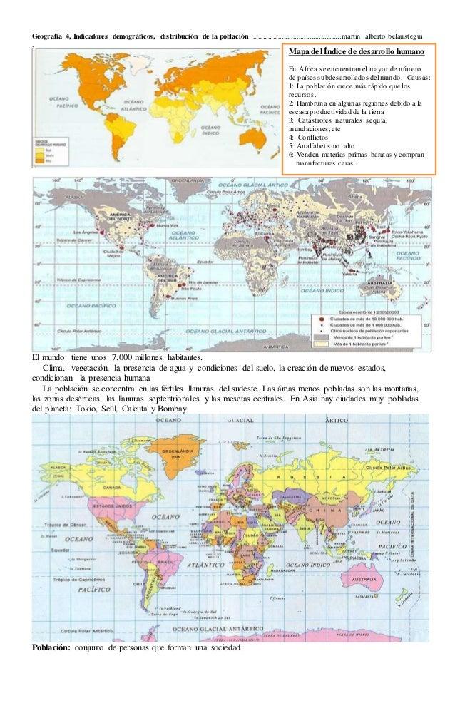 Geografia 4, Indicadores demográficos, distribución de la población .................................................marti...