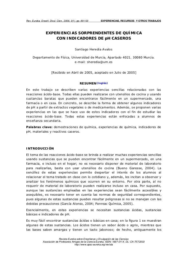 Rev. Eureka. Enseñ. Divul. Cien., 2006, 3(1), pp. 89-103      EXPERIENCIAS, RECURSOS Y OTROS TRABAJOS                 EXPE...