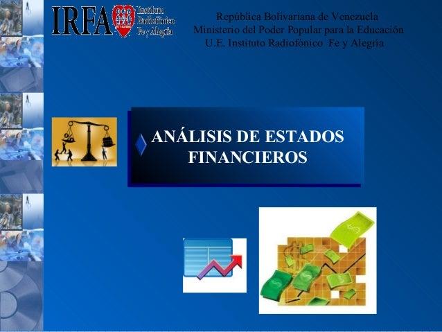 República Bolivariana de Venezuela Ministerio del Poder Popular para la Educación U.E. Instituto Radiofónico Fe y Alegría ...