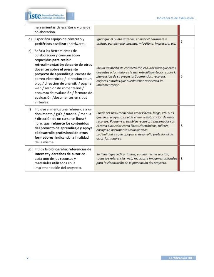 Indicadores de evaluación     herramientas de escritorio y una de     colaboración.d) Especifica equipo de cómputo y      ...