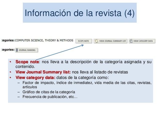 El factor de impacto de las revistas científicas es uno de los indicadores bibliométricos más utilizados. Este indicador e...