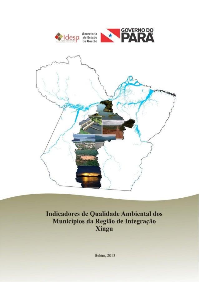 INDICADORES DE AVALIÇÃO DA QUALIDADEAMBIENTAL DA REGIÃO DE INTEGRAÇÃO XINGU