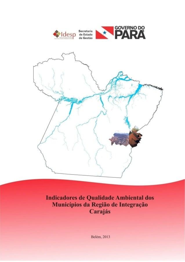 INDICADORES DE AVALIAÇÃO DA QUALIDADE AMBIENTAL DA REGIÃO DE INTEGRAÇÃO CARAJÁS 2012