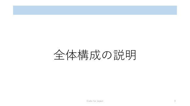全体構成の説明 Code for Japan 3