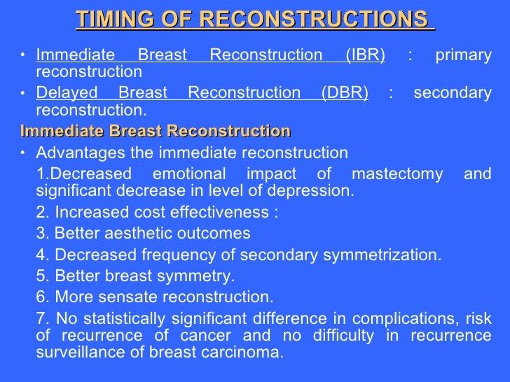 Alloplastic breast reconstruction