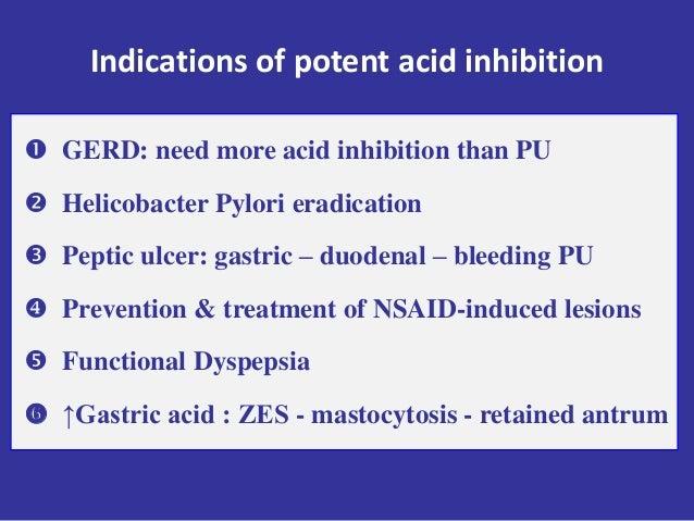 Indications of proton pump inhibitors