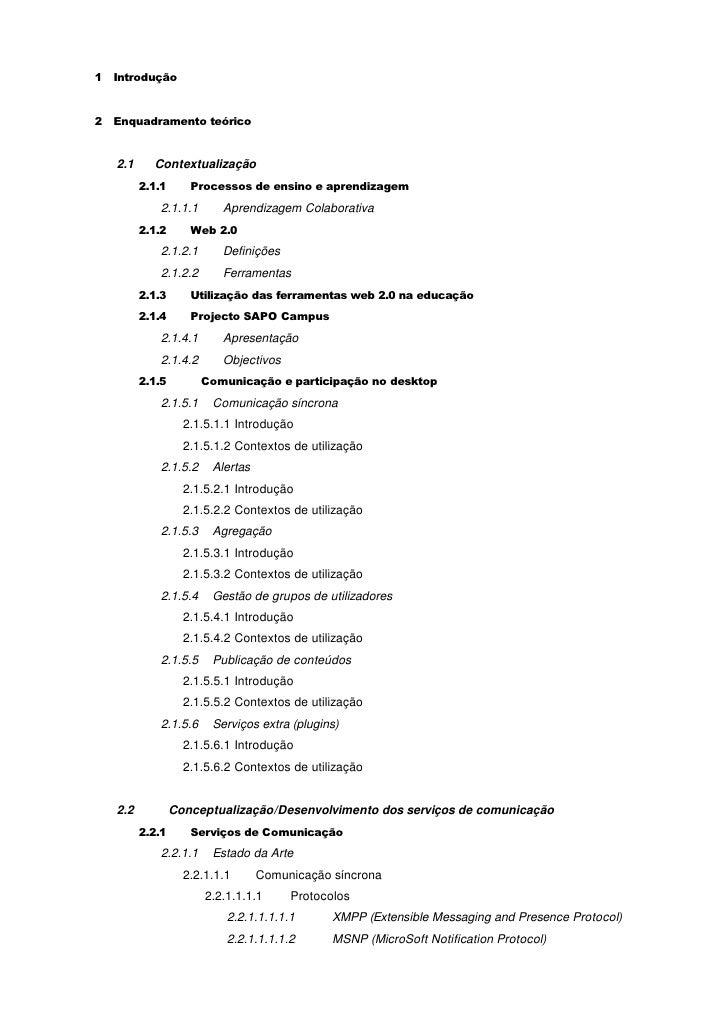 1 Introdução   2 Enquadramento teórico      2.1     Contextualização          2.1.1      Processos de ensino e aprendizage...