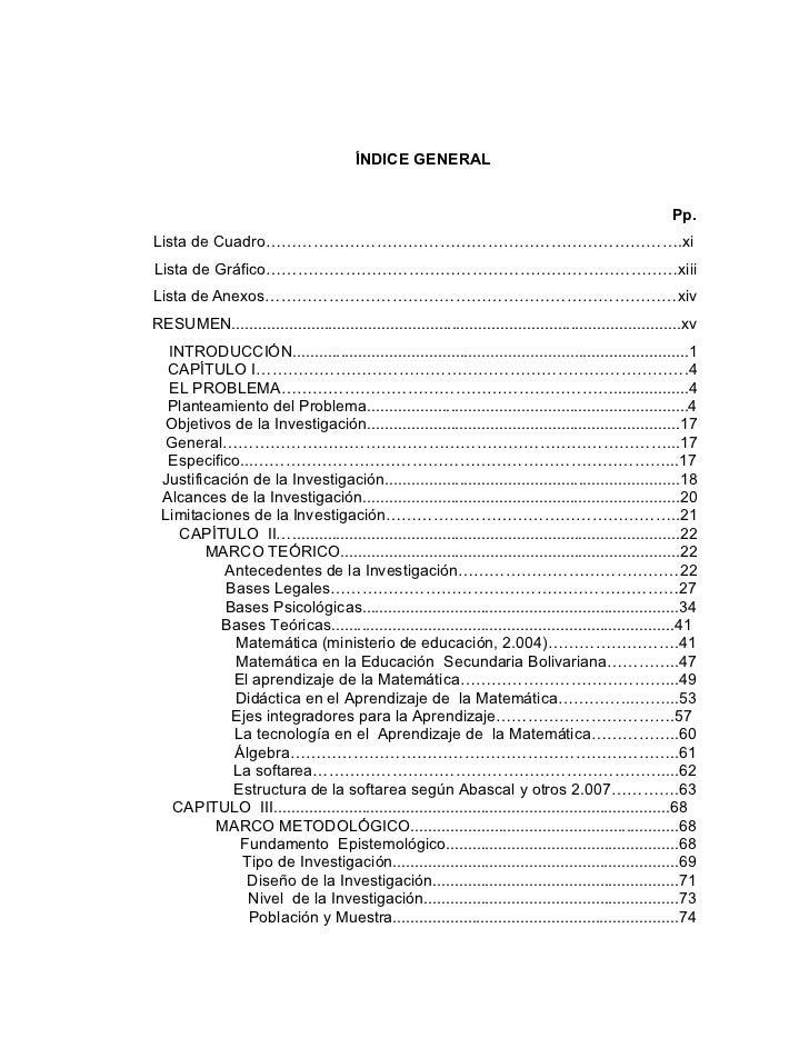 Ndice y portada de mi tesis for Tesis de arquitectura ejemplos