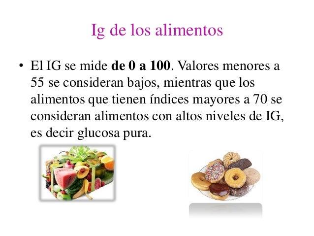 Indice glucemico de los alimentos - Alimentos bajos en glucosa ...