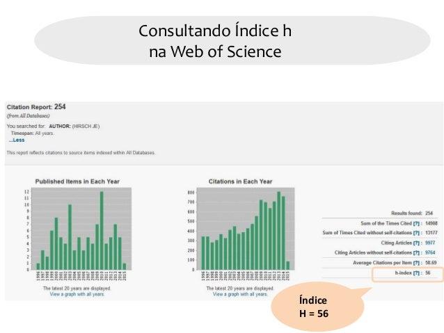 Com consultar o ndice h na base de dados web of science for Consul tutorial