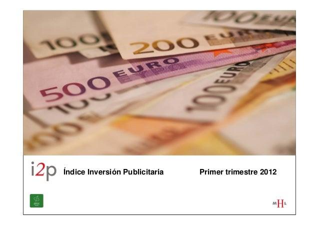 Índice Inversión Publicitaria   Primer trimestre 2012