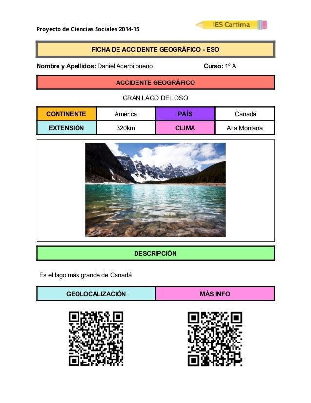 Proyecto de Ciencias Sociales 2014-15  FICHADEACCIDENTEGEOGRÁFICOESO  NombreyApellidos:DanielAcerbibu...